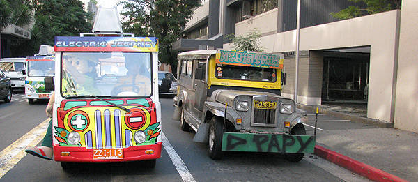 Philippine Electric jeepney - Public transport vehicle