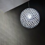Elegant Light Shade Created from Recycled Drink Boxes by Designer Ed Chew